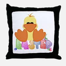Easter Duck Throw Pillow