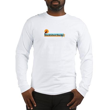 Shackleford Banks NC - Beach Design Long Sleeve T-