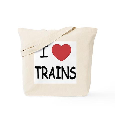 I heart trains Tote Bag