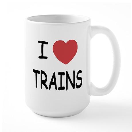I heart trains Large Mug
