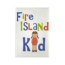 Fire Island Kid Girls Rectangle Magnet