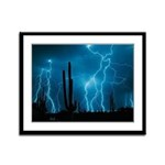 Sonoran Storm Framed Panel Print