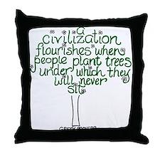 A Civilization Flourishes Whe Throw Pillow
