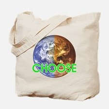 CHOOSE EARTH Single Sided Tote Bag