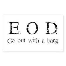 E.O.D. 1 Rectangle Decal