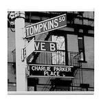 Charlie Parker Place Tile Coaster