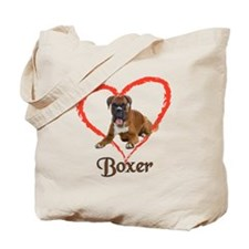 I Love Boxers Tote Bag