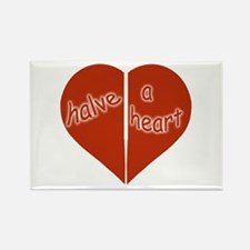 Halve A Heart Rectangle Magnet