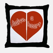Halve A Heart Throw Pillow