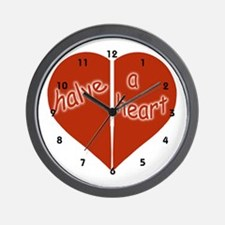 Halve A Heart Wall Clock