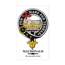 MacDonald Clan Badge Crest Rectangle Decal