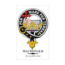 MacDonald Clan Badge Crest Rectangle Decal