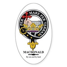 MacDonald Clan Badge Crest Oval Decal