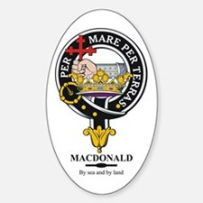 MacDonald Clan Badge Crest Oval Decal