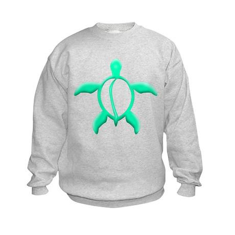 Sea Foam Turtle Kids Sweatshirt