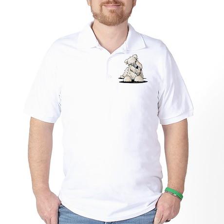 Curious Wheaten Terrier Golf Shirt