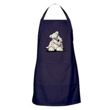Curious Wheaten Terrier Apron (dark)