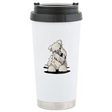 Curious Wheaten Terrier Travel Mug