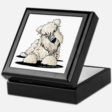 Curious Wheaten Terrier Keepsake Box