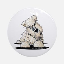Curious Wheaten Terrier Ornament (Round)