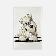 Curious Wheaten Terrier Rectangle Magnet