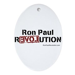 Ron Paul- Pendant/ Ornament (Oval)