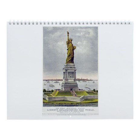 Statue of Liberty-1885 Wall Calendar