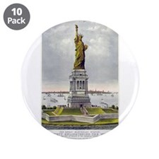 """Statue of Liberty-1885 3.5"""" Button (10 pack)"""