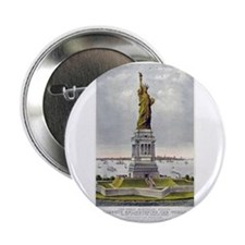 "Statue of Liberty-1885 2.25"" Button (10 pack)"