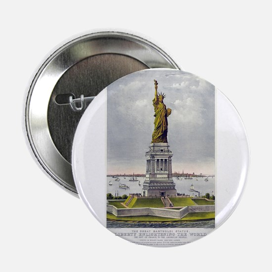 "Statue of Liberty-1885 2.25"" Button"