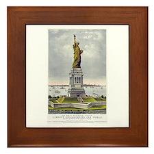 Statue of Liberty-1885 Framed Tile