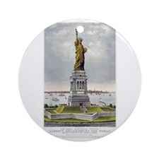 Statue of Liberty-1885 Ornament (Round)