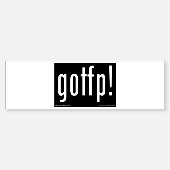 Cute Get off phone bumper Sticker (Bumper)