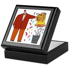 Funny French Horn Cartoon Keepsake Box