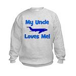 My Uncle Loves Me! PLANE Kids Sweatshirt