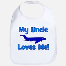 My Uncle Loves Me! PLANE Bib