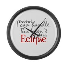 Can't fight an Eclipse Large Wall Clock