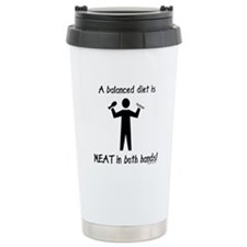 Meat in both hands balanced diet Travel Mug