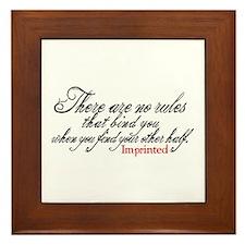No rules bind Imprinted Framed Tile