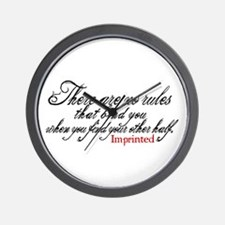 No rules bind Imprinted Wall Clock