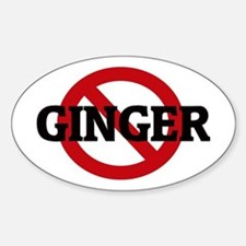 Anti-Ginger Oval Decal