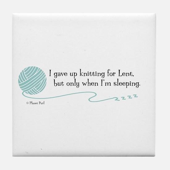 """Gave Up Knitting"" - Tile Coaster"