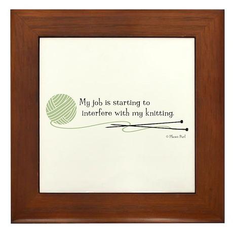 """""""My Job"""" - Framed Tile"""