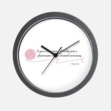 """A Yarn Shop Owner"" - Wall Clock"