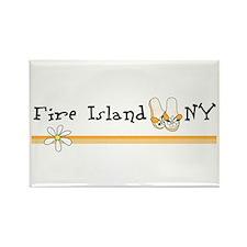 Flip Flops Fire Island Rectangle Magnet
