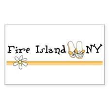 Flip Flops Fire Island Decal