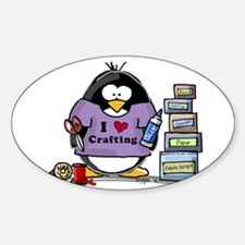 I love crafting penguin Decal