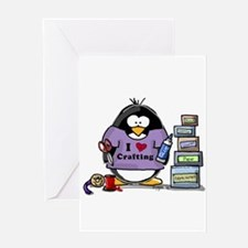 I love crafting penguin Greeting Card