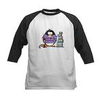 I love crafting penguin Kids Baseball Jersey