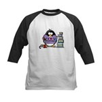 I love crafting penguin Kids Baseball Jersey